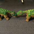 My Pleo RB Kermit and Pleo ugobe Buddy meeting for the first time